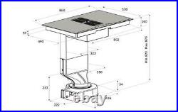 86cm Designer Bridgeable Induction Hob with Downdraft Airforce Aspira Centrale