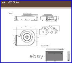 87cm Bridgeable Induction Hob withDowndraft Airforce Aspira Slim B2 Octa Motion