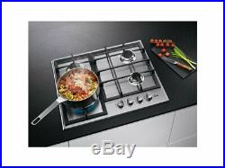 AEG HGB64420SM 60cm Stainless steel Gas Kitchen Hob