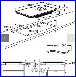 AEG IKE95471FB 91cm MaxiSense Induction Hob
