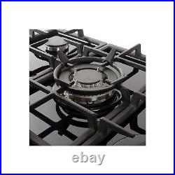 Amica AGVH7300BL 70cm Wide Five Burner Gas Hob With Cast Iron Pan Sta AGVH7300BL