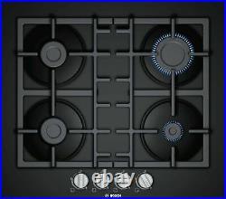 BOSCH PNP6B6B90- 60 cm Gas Kitchen hob, Tempered black glass