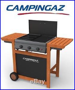 Barbecue A Gas Gpl Adelaide Woody 3 Con Bruciatori Ghisa Marca Campingaz