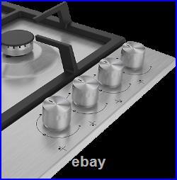 Beko HIAW 64225 SX Piano Cottura Incasso a Gas 4 Fuochi 60 cm Griglie in Ghisa