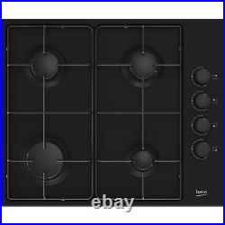 Beko HIBG64120SB 60cm Four Burner Gas Hob Black