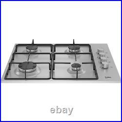 Beko HIBG64120SX 60cm Four Burner Gas Hob Stainless Steel