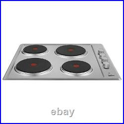 Beko HIZE64101X 58cm Wide Solid Plate Hob Stainless Steel