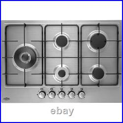 Belling GHU75GC 75cm Front Control Five Burner Gas Hob Stainless Steel