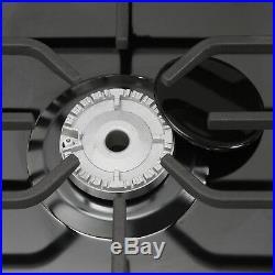 Black Titanium 30 Built-in Cooktop 5 Burners Stove LPG/NG Gas Hob Cooker USFAST