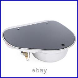 Boat Caravan RV Camper 1 Burner LPG Gas Stove Hob Sink Combo WithGlass Lid GR-600