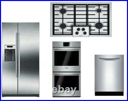 Bosch 500 Series Package Of Cooktop + Double Oven +Dishwasher & Refrigerator
