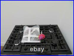 Bosch 800 Series 30 5 Burners Red LED Black Stainless Gas Cooktop NGM8046UC IM