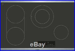 Bosch 800 Series NET8068SUC 30 Inch Electric Cooktop with Dual Size Burner