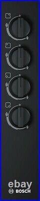 Bosch Gaskochfeld 60cm elektrische Zündung Glas schwarz GAS KOCHFELD Autark