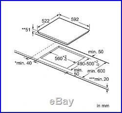 Bosch Induktionskochfeld PIE611BB1E autark rahmenlos SCHOTT CERAN flach Einbau
