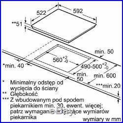 Bosch Induktionskochfeld PIF651FB1E 60cm BRÄTERZONE autark SCHOTT CERAN Einbau