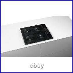 Bosch PBP6B6B60 58cm Four Burner Gas Hob in Black PBP6B6B60
