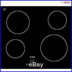 Bosch PKE611B17E Built-in 60cm Black Frameless Electric Ceramic Kitchen Hob New