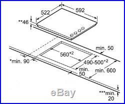 Bosch PKE652CA1E Induktionskochfeld weiß 60cm SCHOTT CERAN Rahmenlos Drehknopf