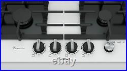 Bosch PPP6A2M90 Einbau Gaskochfeld weiß Gas 60cm Autark Glas Kochfeld Glas white