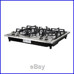 Brand 23 Built-in 4 Burners Gas Cooktop Stainless Steel NG LPG Gas Hob Cooker
