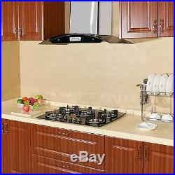 Brand New 30 Black Electric Tempered Glass Built-in 5 Burner Oven Gas Cooktops