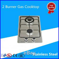 Brand New 30cm Double 2 Burner Stainless Steel Gas Cooktop Kitchen Stove New