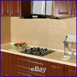 Brand new 61cm 24'' Built-in 4 Burner GAS Black Glass Cooktop Stove Cook Top US