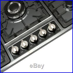 Branded 34 Titanium Stainless Steel Cooktop Built-in Stove NG/LPG Gas Cooker