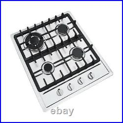 Built-In 23 Stainless Steel 4 Burner Stove NG LPG Gas Hob Cooktop Cooker Cook