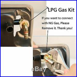 Bulid in & Counter Top Stove 3 Burner 28 Stainless Steel Gas Cooktop NG/LPG Hob