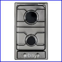 CDA HCG302SS Kitchen Stainless Steel Two Burner Domino Gas Hob