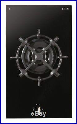 CDA HG3601FR 30cm Domino Single Wok Burner Gas on Glass Hob Black