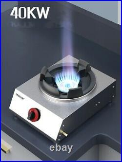 Cast Iron Wok Burner High Pressure Propane Burner Portable Cooktop 136000 BTU