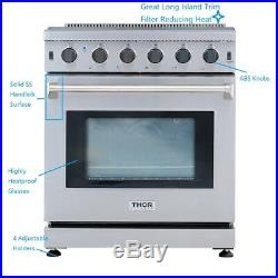 Cooktop Stove 30 Gas Range 5 burner with oven Stainless Steel LRG3001U