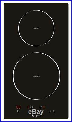 Cooktops Empava 12 Electric Induction Smooth Surface Black Tempered Glass