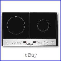 Cuisinart Energy Saving Quick Heat Double Induction Stove Cooktop Surface, Black