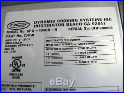 DCS 48 Stainless Steel Range top with 6 Burners & Griddle Display Model