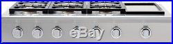 DCS CPU-486GD-N Rangetop 48 6 Burners, Griddle, Natural Gas