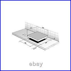 De Dietrich DPI7650BU 65cm 4 Zone Induction Hob 6 Functions 15 Power Levels B