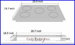 Deli-kit 30'' gas cooktop dual fuel sealed 5 burners gas hob stainless steel