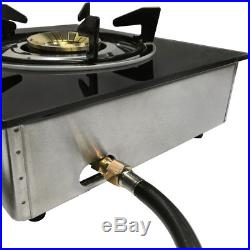 Deluxe Propane Gas 1 Single Burner Stove Tempered Glass Auto Ignition
