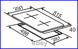 Doppelkochplatte Edelstahl Glaskeramik Autark Doppelkochfeld 230V Einbau 2 Feld