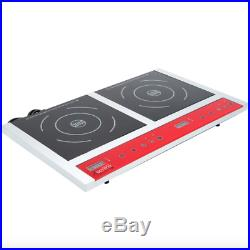 Double Countertop Induction Range/Cooker Restaurant Home NSF 120V 1800W IC18DB