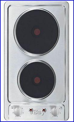 Einbaukochfeld Kochfeld Autark Doppelkochplatte Doppelkochfeld Edelstahl Domino