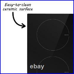 ElectriQ 30cm Domino Two Zone Induction Hob Black Plug in and go! EiQ30INDP