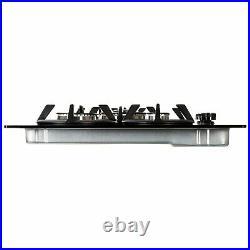 ElectriQ 75cm Gas on Glass hob in black IQGH75BG