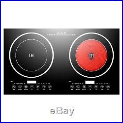 Electric 2400W 2 Digital Induction HotCooker Cooktop Countertop Burner 110V Fast