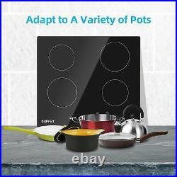 Electric Cooktop Cooktop Vertical with 4 Burners Vitro Ceramic Munites Timer