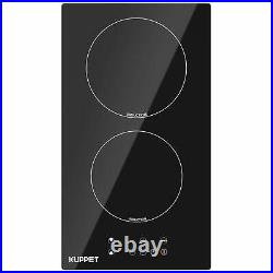 Electric Cooktop Induction Cooktop Vertical with 2 Burners & Munites Timer Black